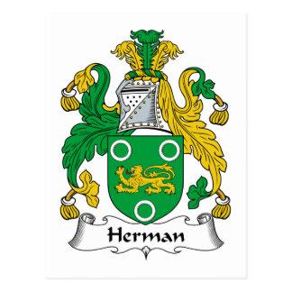 Escudo de la familia de Herman Tarjetas Postales