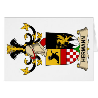 Escudo de la familia de Hermann Tarjeta De Felicitación