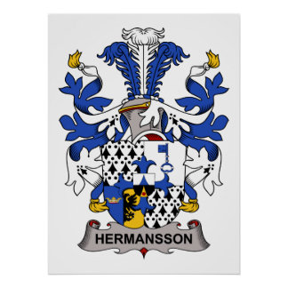 Escudo de la familia de Hermansson Poster