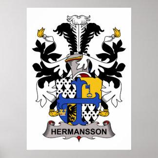 Escudo de la familia de Hermansson Posters