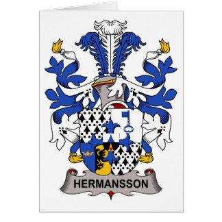 Escudo de la familia de Hermansson Tarjeton