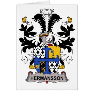 Escudo de la familia de Hermansson Tarjetón