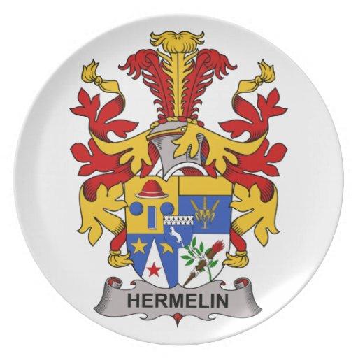 Escudo de la familia de Hermelin Plato