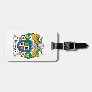 Escudo de la familia de Hermosa Etiqueta Para Equipaje