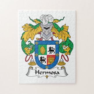Escudo de la familia de Hermosa Rompecabezas Con Fotos