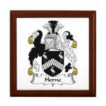 Escudo de la familia de Herne Cajas De Recuerdo