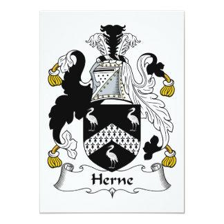 Escudo de la familia de Herne Invitación 12,7 X 17,8 Cm