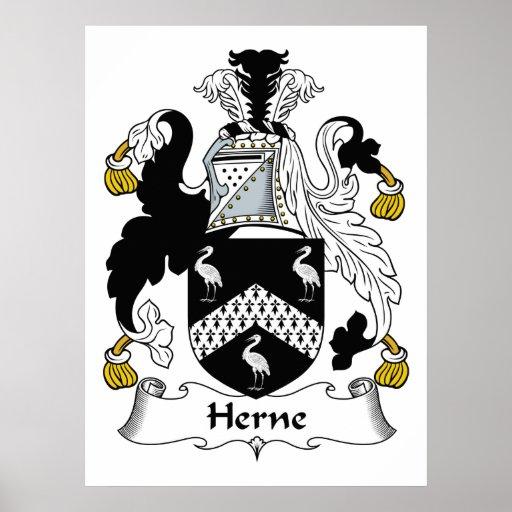 Escudo de la familia de Herne Posters