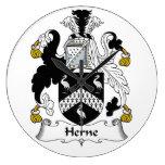 Escudo de la familia de Herne Reloj De Pared