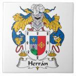 Escudo de la familia de Herran Teja Ceramica