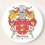 Escudo de la familia de Herrera Posavasos Para Bebidas