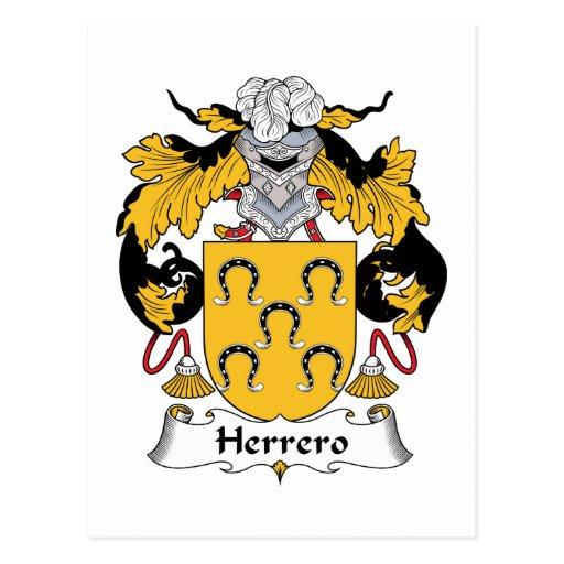 Escudo de la familia de Herrero Postal