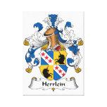 Escudo de la familia de Herrlein Impresiones En Lona