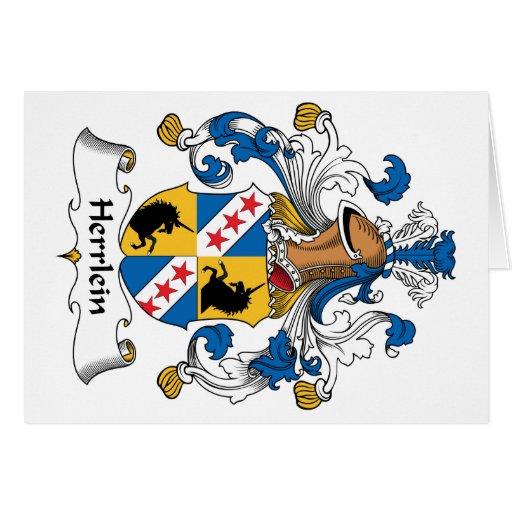 Escudo de la familia de Herrlein Tarjetas
