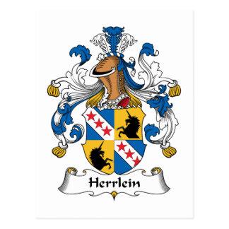 Escudo de la familia de Herrlein Tarjetas Postales