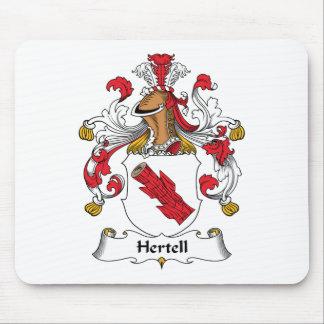 Escudo de la familia de Hertell Alfombrilla De Ratones