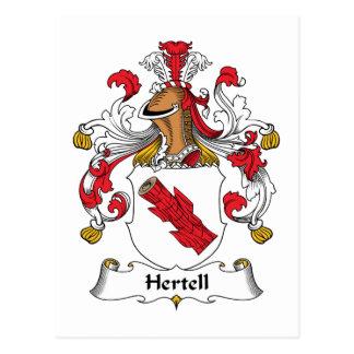 Escudo de la familia de Hertell Postales