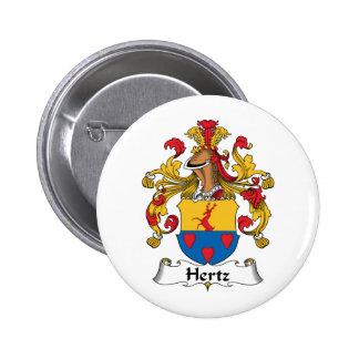 Escudo de la familia de Hertz Pin