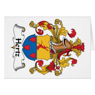 Escudo de la familia de Hertz Tarjetón