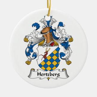Escudo de la familia de Hertzberg Adorno Redondo De Cerámica