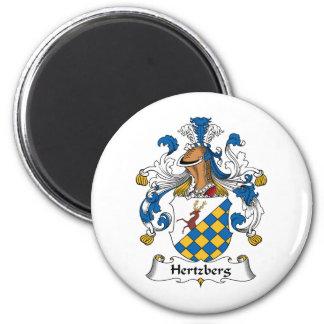 Escudo de la familia de Hertzberg Imán Redondo 5 Cm