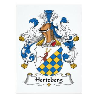 """Escudo de la familia de Hertzberg Invitación 6.5"""" X 8.75"""""""