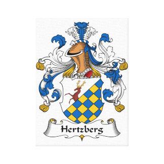 Escudo de la familia de Hertzberg Lienzo Envuelto Para Galerías