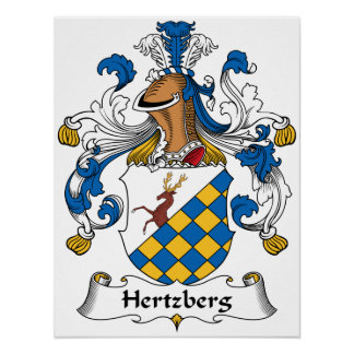 Escudo de la familia de Hertzberg Póster