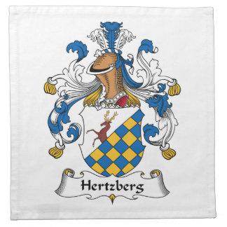 Escudo de la familia de Hertzberg Servilletas Imprimidas