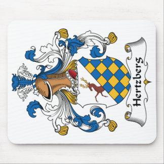Escudo de la familia de Hertzberg Tapete De Ratones