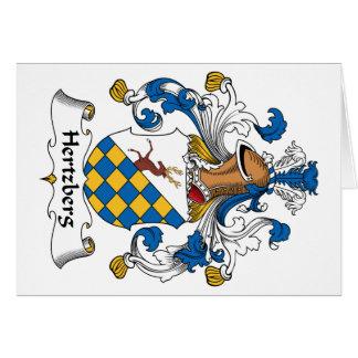 Escudo de la familia de Hertzberg Tarjeta De Felicitación