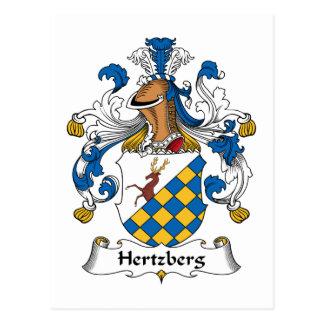 Escudo de la familia de Hertzberg Tarjeta Postal