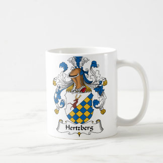 Escudo de la familia de Hertzberg Taza Básica Blanca