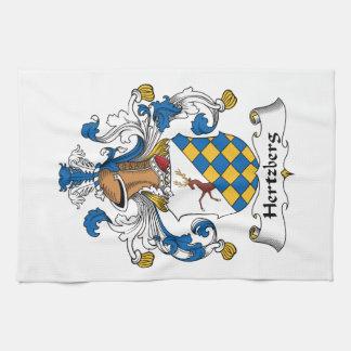Escudo de la familia de Hertzberg Toalla De Mano