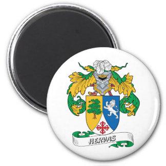 Escudo de la familia de Hervas Imán Redondo 5 Cm