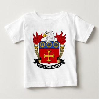 Escudo de la familia de Heseltine Playera De Bebé
