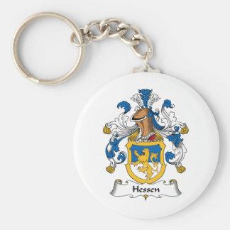 Escudo de la familia de Hesse Llavero Redondo Tipo Pin