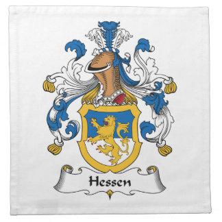 Escudo de la familia de Hesse Servilleta De Papel