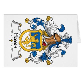 Escudo de la familia de Hesse Tarjeta De Felicitación