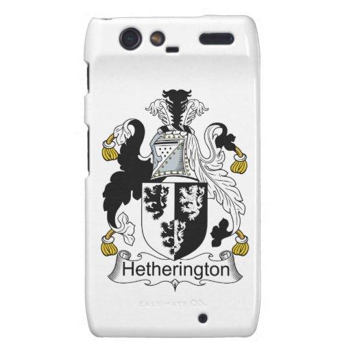 Escudo de la familia de Hetherington Droid RAZR Fundas