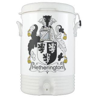 Escudo de la familia de Hetherington Refrigerador De Bebida Igloo