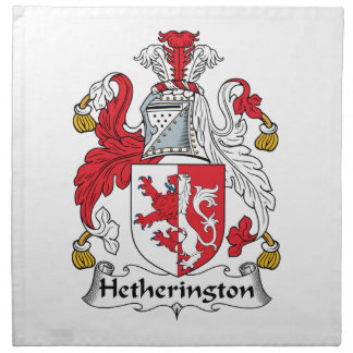 Escudo de la familia de Hetherington Servilleta De Papel