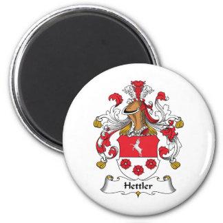 Escudo de la familia de Hettler Imán Redondo 5 Cm