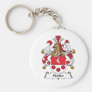 Escudo de la familia de Hettler Llavero Redondo Tipo Pin