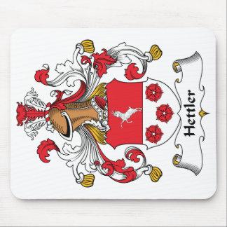 Escudo de la familia de Hettler Alfombrillas De Ratones
