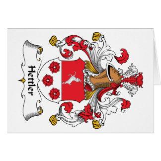 Escudo de la familia de Hettler Tarjeta De Felicitación