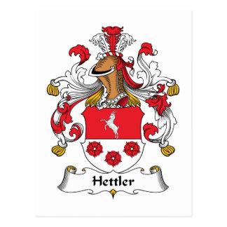 Escudo de la familia de Hettler Tarjetas Postales