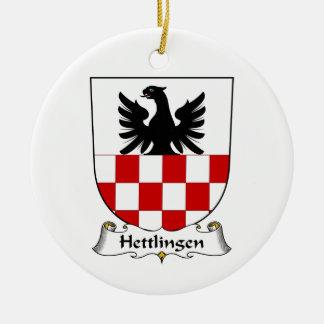 Escudo de la familia de Hettlingen Adorno Navideño Redondo De Cerámica