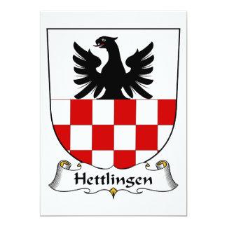 """Escudo de la familia de Hettlingen Invitación 5"""" X 7"""""""