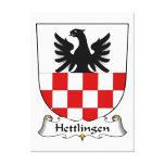Escudo de la familia de Hettlingen Lona Estirada Galerías